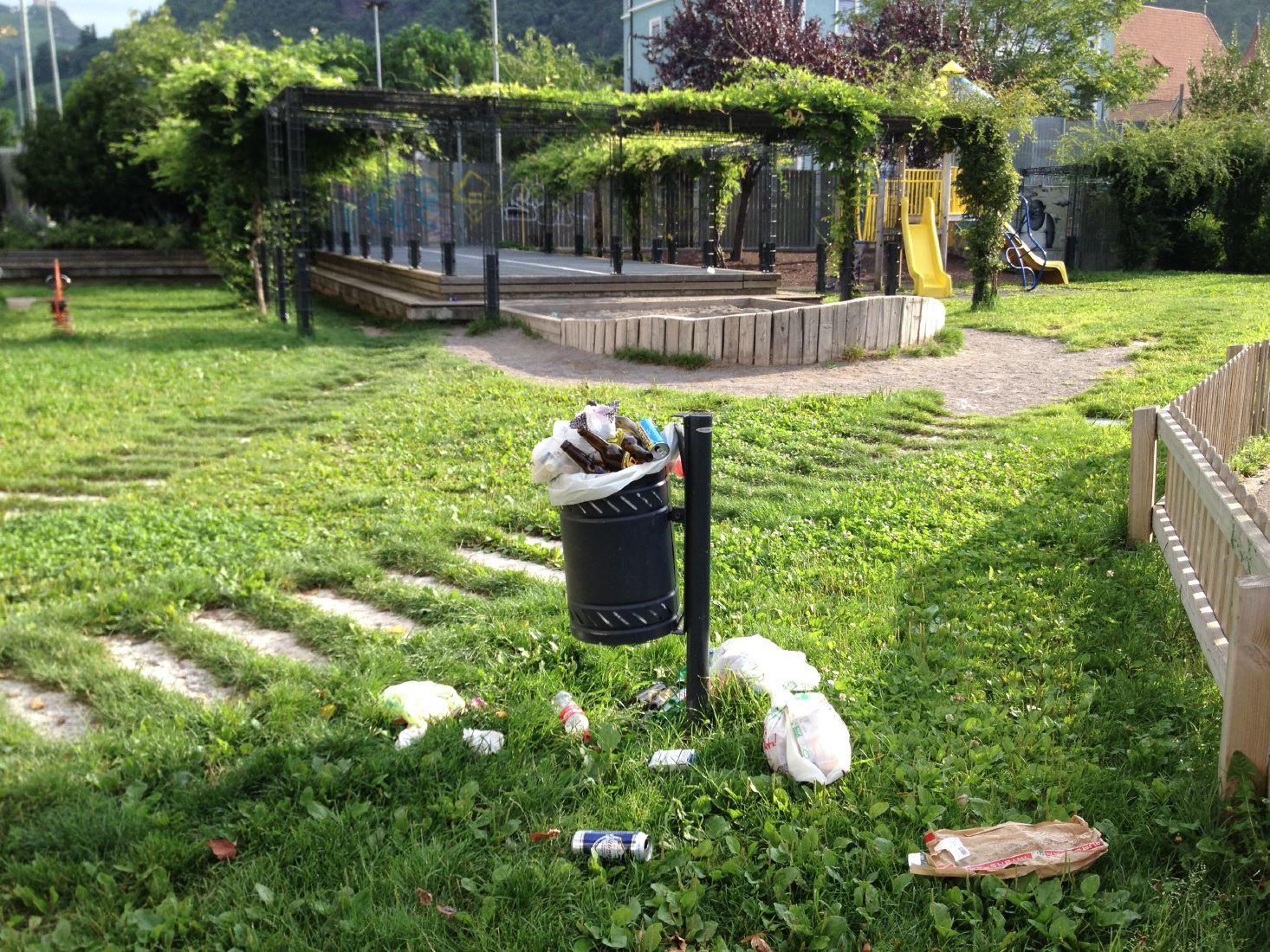 Il parco giochi tra via Vintola e via Weggenstein