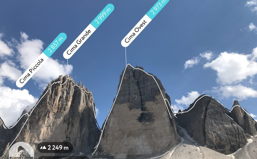 App per scoprire i nomi delle montagne Peakfinder AR vs Peakvisor