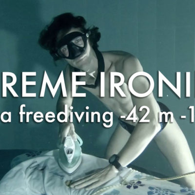 EXTREME IRONING apnea freediving -42 m -138 ft